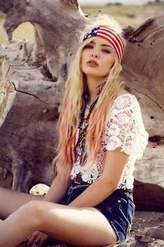 4th+of+July+Boho+Look
