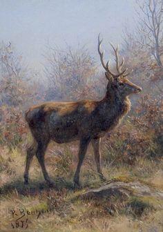 "Rosa Bonheur, ""The Stag"", 1875, Realism"