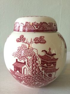 A personal favourite from my Etsy shop https://www.etsy.com/uk/listing/456351642/masons-ceramic-red-willow-ginger-jar