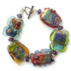 Lampwork Bead Bracelet - Side 2 | Flickr - Photo Sharing!