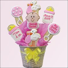 New Baby Cookie Bouquet