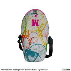 Personalized Vintage Bike Bicycle Messenger Bag. Regalos, Gifts. #bolso #bag #DiaDeLasMadres #MothersDay