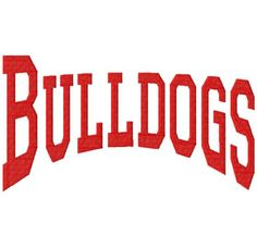 Bulldogs  College  Arched  Machine Embroidery by LilliPadGifts
