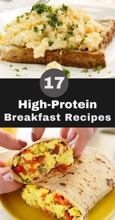 17 High-Protein Breakfast Recipes to Help You Power Through the Day What better . - 17 High-Protein Breakfast Recipes to Help You Power Through the Day What better way to start the dai - Healthy High Protein Meals, High Protein Breakfast, High Protein Low Carb, High Protein Recipes, Low Calorie Recipes, Vegan Recipes Easy, High Calorie Breakfasts, High Protein Healthy Breakfast, High Calorie Foods