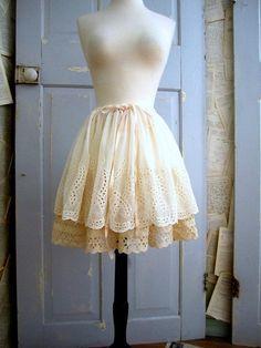 1950s Eyelet Full Slip Skirt