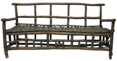 Rustic Twig Bench | From a unique collection of antique and modern benches at http://www.1stdibs.com/furniture/seating/benches/