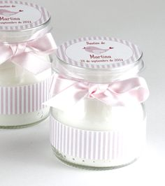 Vela bautizo3 Más Baby Jars, Baby Food Jars, Baby Presents, Baby Gifts, Christian Baptism, Baptism Candle, Baby Shawer, Baptism Party, First Tooth
