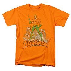 DC Comics - Aquaman distressed design Men's T-Shirt - http://bandshirts.org/product/dc-comics-aquaman-distressed-design-mens-t-shirt/