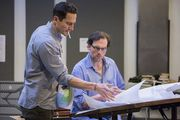 """Silas Weir Mitchell and Sasha Roiz, who play Monroe and Captain Renard in """"Grimm,"""" are spending their summer break from the show appearing in the Portland Center Stage production of """"Three Days of Rain,"""" directed by Chris Coleman and also starring Lisa Datz."""