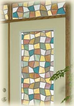 Savannah Stained Glass Privacy Window Film