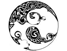 Large Tribal Celtic Moon Tattoo   Tattoo Tabatha