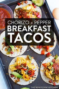 Oh my yum! These Chorizo and Egg Breakfast Tacos are the bees knees! Fast, easy, and delicious these make an exception breakfast or brunch that are gluten free and can be made low carb friendly. #ad #thebewitchinkitchen #breakfasttacos #tacorecipe #chorizosausage #eggrecipes #breakfastrecipes #easybreakfast #glutenfreerecipes #glutenfreebreakfast
