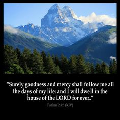 """""""FROM JESUS CHRIST - GOODNESS, MERCY, AND ETERNAL LIFE""""  Psalms  23:6 Surely goodness and mercy shall follow me all the days of my life: and I will dwell in the house of the LORD for ever."""