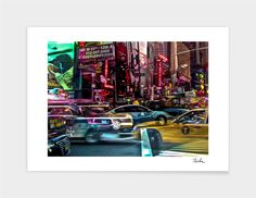 """""NYC Traffic"""", Exclusive Edition Fine Art Print by michael thielen - From $25.00 - Curioos"