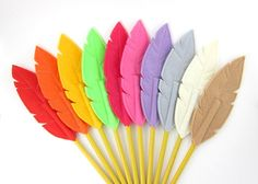 Felt Feather Pencil Toppers Quill Writer