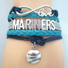 Infinity Love Seattle Mariners Baseball - Show off your teams colors! Cutest Love Seattle Mariners Bracelet on the Planet! Don't miss our Special Sales Event. Many teams available. www.DilyDalee.co