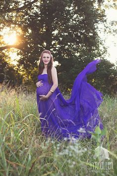 Maternity Wrap in sheer purple, photography prop on Etsy, $30.00
