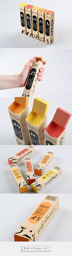 Eco-friendly spice #packaging made of paper, designed by Masha Barsukova