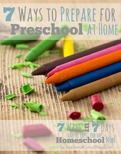 #2 is BRILLIANT for this age! 7 Ways to Prepare for Preschool at Home | www.teachersofgoodthings.com
