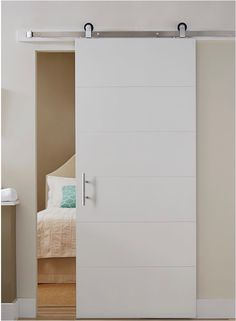 New bathroom door design modern barn ideas Sliding Door Design, Interior Sliding Barn Doors, Exterior Doors, Interior Door Styles, Modern Interior Doors, Interior Design, Barn Door Closet, Contemporary Barn, Building A Barn Door