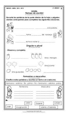 Material de apoyo_mzo_abril_14-15_segundo Bullet Journal, Second Grade Books, Prayers, Words