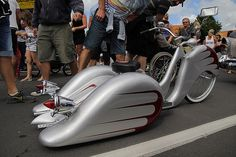 Custom Tricycle with wheel skirts