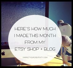 How Much I Made in March with my Etsy Shop and blog | Marketing Creativity by Lisa Jacobs
