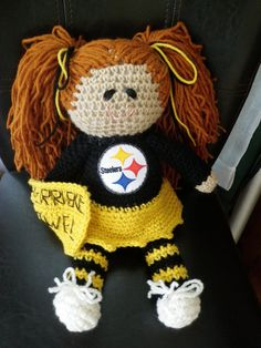 Pittsburgh Steelers rag doll