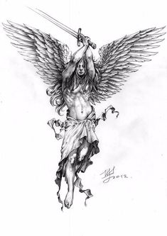 Spectacular Warrior Angel Gabriel Tattoo Angel Gabriel Tattoo - Spectacular Warrior Angel Gabriel Tattoo Angel Gabriel Tattoo You are in the right place about tatto - Tattoo Sketches, Tattoo Drawings, Body Art Tattoos, Cool Tattoos, Tatoo Designs, Tattoo Sleeve Designs, Sleeve Tattoos, Angel Warrior Tattoo, Warrior Tattoos