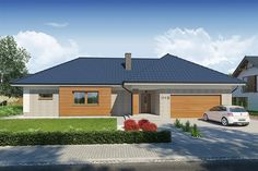 Projekt Domena 111 B 205,85 m2 - koszt budowy - EXTRADOM Beautiful House Plans, Beautiful Homes, Residential Building Plan, Cottage Plan, Home Projects, Home Goods, Garage Doors, Shed, Outdoor Structures