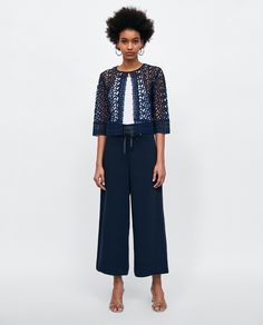 Zara navy lace jacket