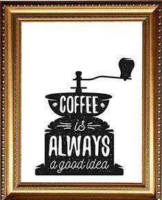 Design Poster, Vintage Poster für die Küche, Küchenposter, Poster Küche, Poster Kaffee, Retro Poster