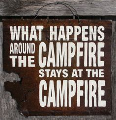 Rustic Cabin Campfire Sign by ZietlowsCustomSigns on Etsy on Wanelo