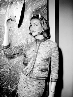 """thisisnodream:    Julie Newmar as Miss Devlin in the Twilight Zone episode """"Of Late I Think of Cliffordville"""", originally aired April 11, 1963."""