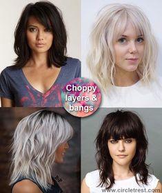❤ My next haircut! ❤ Choppy medium hair with bangs