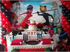 Ideas, decoración y manualidades para fiestas: 10 Ideas para tu mesa de dulces de ladybug Miraculous Ladybug Party, 7th Birthday, Birthday Cake, Shopkins, Childrens Party, Birthdays, Baby Shower, Ideas Decoración, Amelia