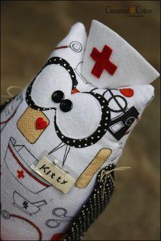 Nurse Kitty is on duty 🏥