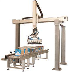 ALFIO, Plnění krabic lahvemi s pracím prostředkem Robot, Robots