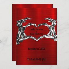 halloween wedding Invitation Halloween Wedding Invitations, Gothic Wedding Invitations, Custom Invitations, Birthday Invitations, Halloween Design, Halloween Ideas, Colored Envelopes, White Envelopes, Envelope Liners