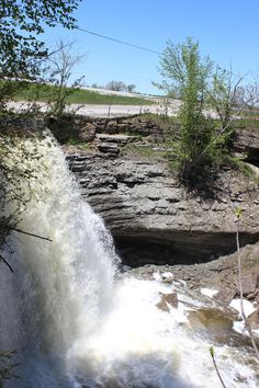high falls in the spring Beautiful Islands, Beautiful Places, Manitoulin Island, High Falls, Waterfall, Spring, Photography, Outdoor, Outdoors