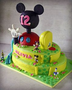Mickey Mouse Clubhouse Cake and Icing Smiles | http://rosebakes.com/mickey-mouse-clubhouse-cake-and-icing-smiles/
