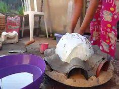 DIY.Vaso de cimento e toalha 1.(MACETA DE TOALLA Y CEMENTO 1)