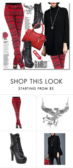"""Plaid Pants & Platform Boots"" by andrea2andare ❤ liked on Polyvore"