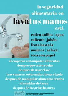 Una correcta higiene de manos es fundamental para la seguridad alimentaria, así que LÁVATE LAS MANOS, es tu responsabilidad como manipulador de alimentos
