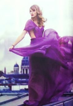 "Taylor's purple dress from ""Begin Again"" music video"