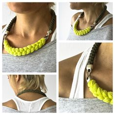 DiY neon necklace? Neutral + 2 clasps + neon rope?