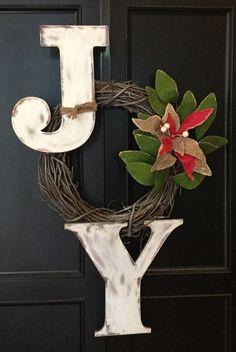 Joy Wreath...these are the BEST DIY Christmas Wreath Ideas!