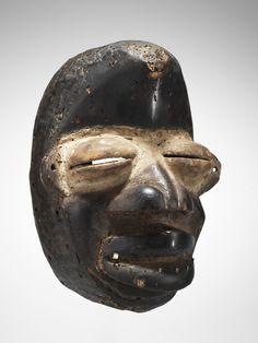 Tanzmaske Höhe 27 cm. Ethnie Wè-Wobé
