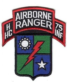 Ranger Regiment & Battalions Pocket Patches  HHC (Airborne), 75th Infantry (Ranger)HHC (Airborne), 75th Infantry (Ranger)