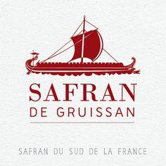 Safran de Gruissan Safran du Sud de la France Graphisme design logo carte de visite